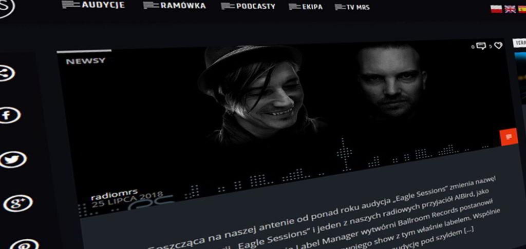 Strona internetowa radia MRS